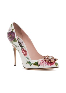 Dolce & Gabbana Dolce&Gabbana Crystal Embellished Floral Pump (Women)