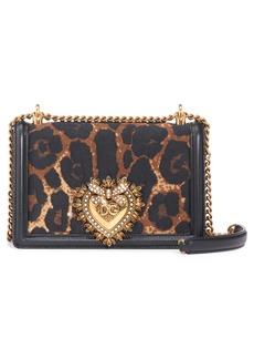 Dolce & Gabbana Dolce&Gabbana Devotion Genuine Calf Hair & Leather Crossbody Bag