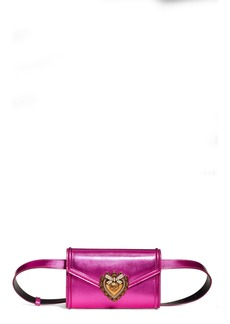 Dolce & Gabbana Dolce&Gabbana Devotion Metallic Leather Belt Bag