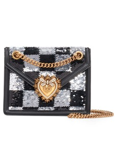 Dolce & Gabbana Dolce&Gabbana Devotion Paillette Checkerboard Sequin Crossbody Bag
