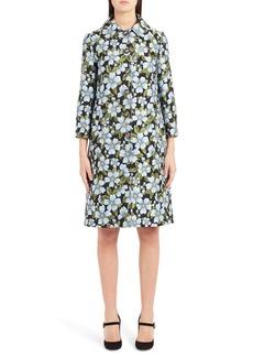 Dolce & Gabbana Dolce&Gabbana DG Button Floral Jacquard Coat