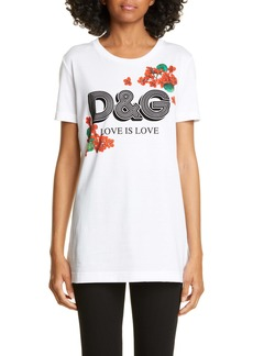 Dolce & Gabbana Dolce&Gabbana D&G Love Is Love Floral Print Tee