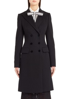 Dolce & Gabbana Dolce&Gabbana Double Breasted Wool & Cashmere Coat