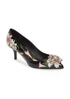 Dolce & Gabbana Dolce&Gabbana Embellished Floral Pump (Women)