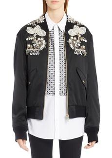 Dolce & Gabbana Dolce&Gabbana Embellished Gabardine Bomber Jacket