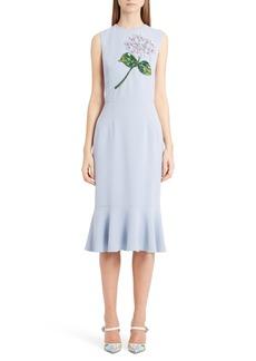 Dolce & Gabbana Dolce&Gabbana Embellished Ruffle Hem Dress