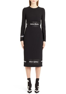 Dolce & Gabbana Dolce&Gabbana Fashion Devotion Sheath Dress