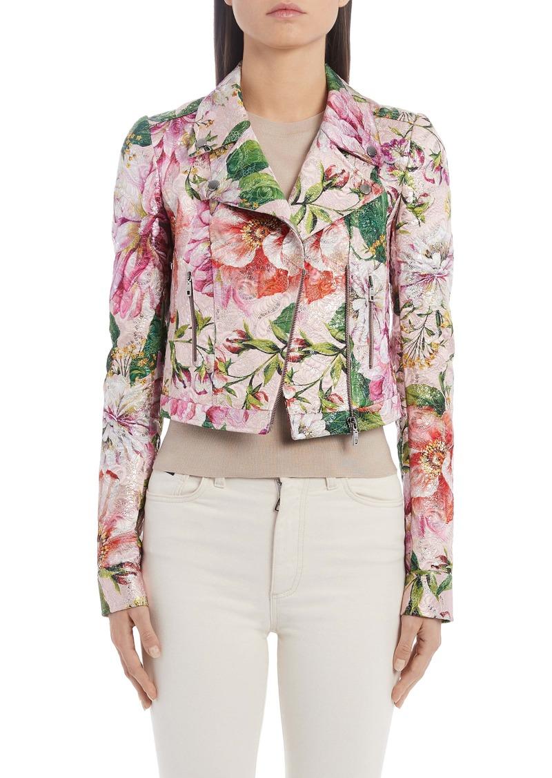 Dolce & Gabbana Dolce&Gabbana Floral Brocade Biker Jacket