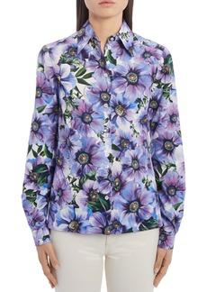 Dolce & Gabbana Dolce&Gabbana Floral Cotton Poplin Shirt