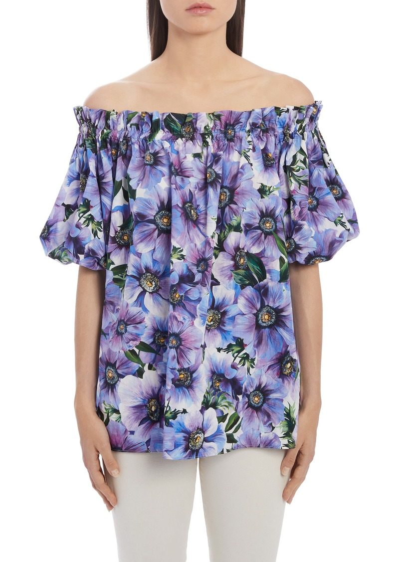 Dolce & Gabbana Dolce&Gabbana Floral Off the Shoulder Top