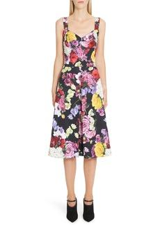Dolce & Gabbana Dolce&Gabbana Floral Print Brocade Bustier Dress