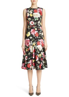 Dolce & Gabbana Dolce&Gabbana Floral Print Flare Hem Dress