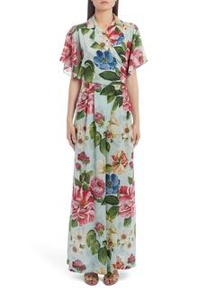 Dolce & Gabbana Dolce&Gabbana Floral Print Silk Wide Leg Jumpsuit
