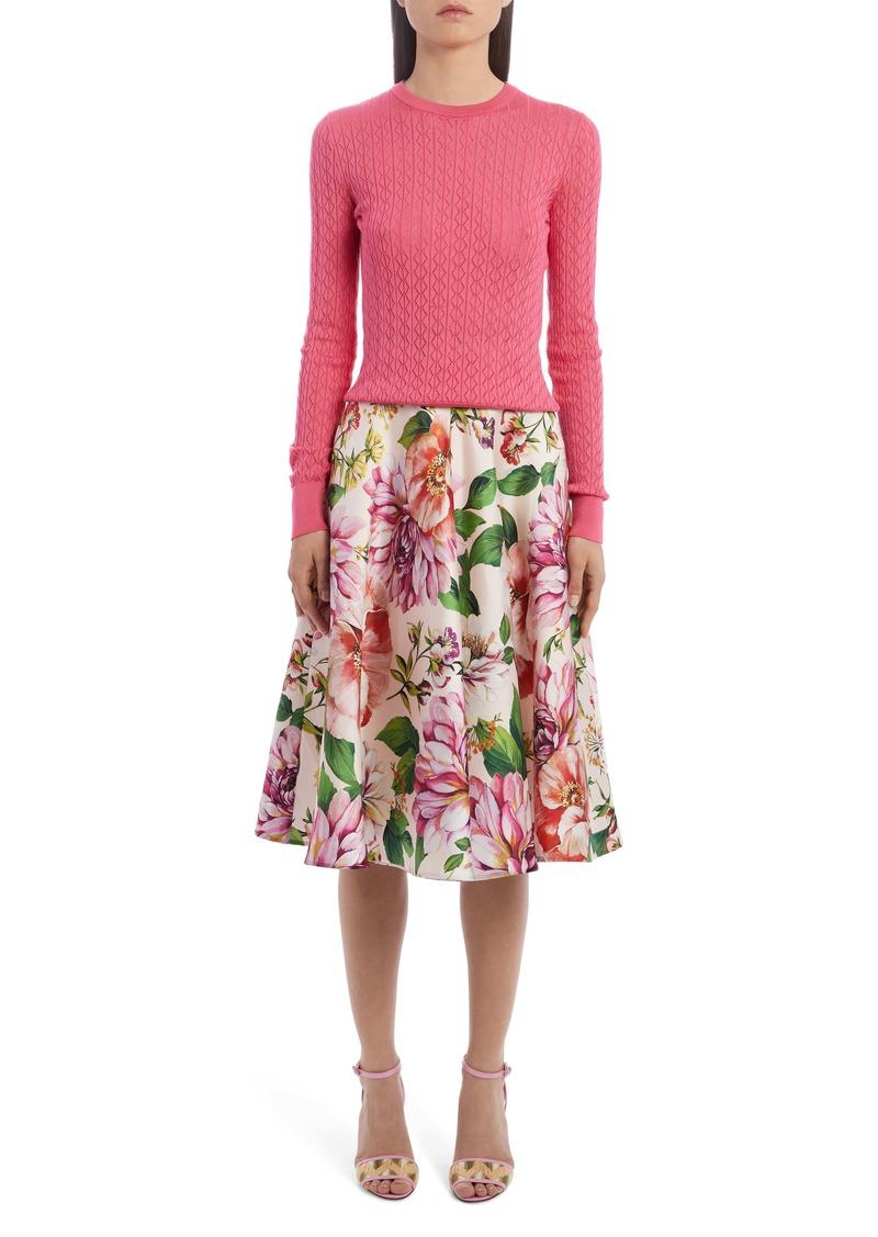 Dolce & Gabbana Dolce&Gabbana Floral Silk A-Line Skirt