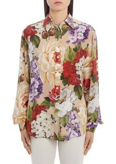Dolce & Gabbana Dolce&Gabbana Floral Silk Crepe Shirt