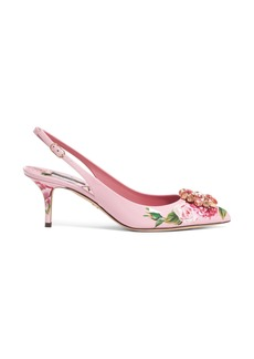 Dolce & Gabbana Dolce&Gabbana Floral Slingback Pump (Women)