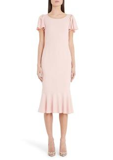 Dolce & Gabbana Dolce&Gabbana Flutter Sleeve Midi Sheath Dress