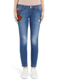 Dolce & Gabbana Dolce&Gabbana Geranium Patch Skinny Jeans