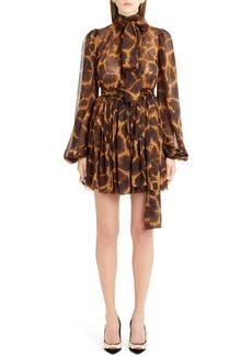 Dolce & Gabbana Dolce&Gabbana Giraffe Print Silk Dress