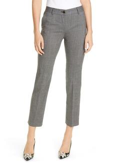 Dolce & Gabbana Dolce&Gabbana Glen Plaid Stretch Wool Crop Pants