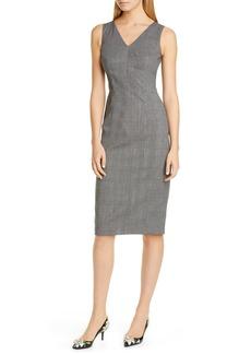 Dolce & Gabbana Dolce&Gabbana Glen Plaid Stretch Wool Sheath Dress