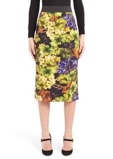 Dolce & Gabbana Dolce&Gabbana Grape Print Pencil Skirt