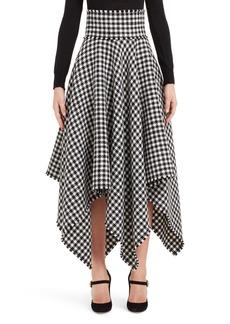 Dolce & Gabbana Dolce&Gabbana Houndstooth Handkerchief Hem Stretch Wool Skirt