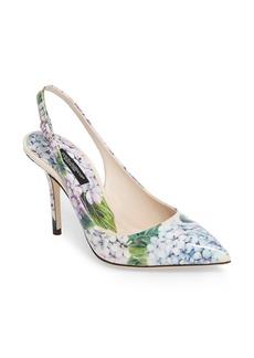 Dolce & Gabbana Dolce&Gabbana Hydrangea Slingback Sandal (Women)
