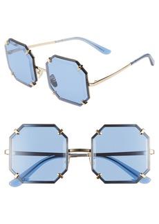 Dolce & Gabbana Dolce&Gabbana Jewel 55mm Octagonal Sunglasses