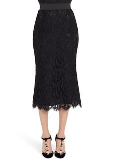 Dolce & Gabbana Dolce&Gabbana Lace Midi Skirt