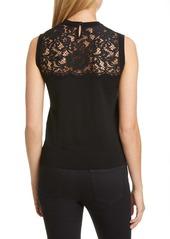 Dolce & Gabbana Dolce&Gabbana Lace Panel Wool Blend Shell