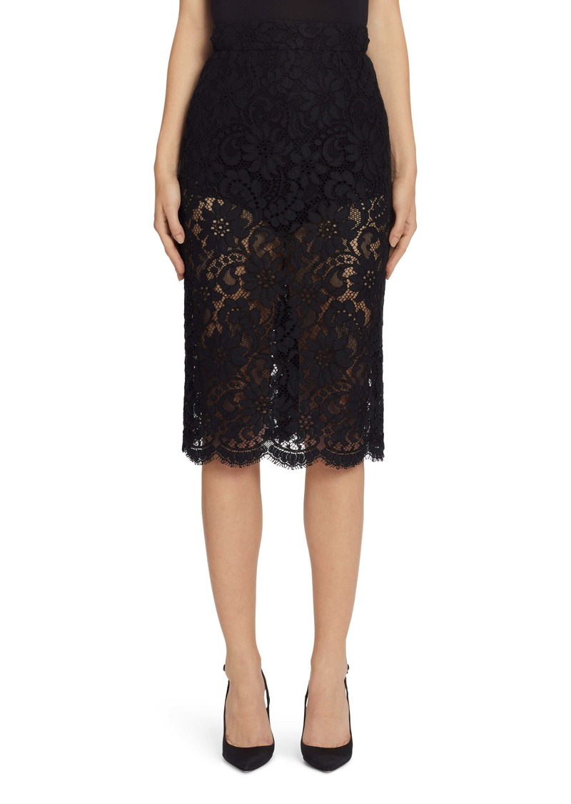Dolce & Gabbana Dolce&Gabbana Lace Pencil Skirt