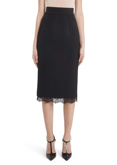 Dolce & Gabbana Dolce&Gabbana Lace Trim Pencil Skirt