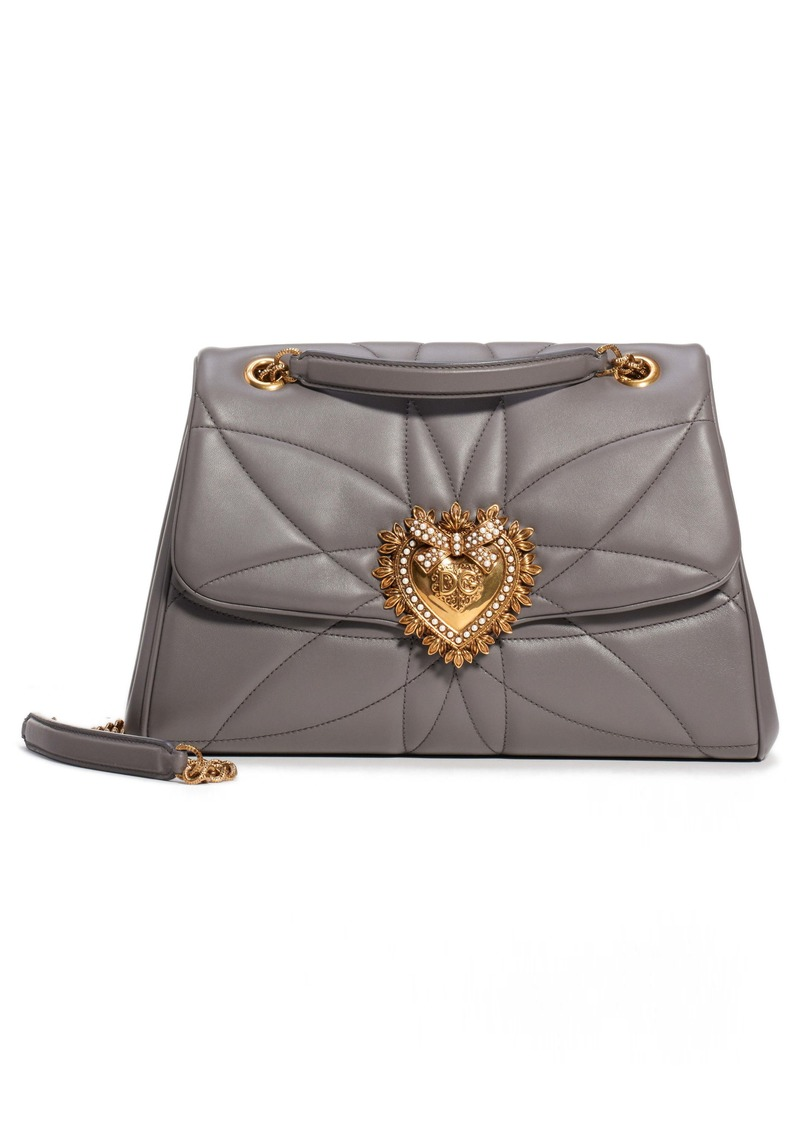 Dolce & Gabbana Dolce&Gabbana Large Devotion Leather Shoulder Bag