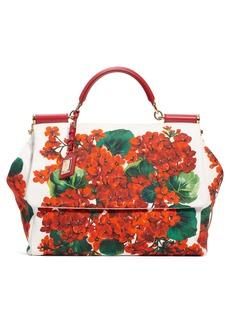 Dolce & Gabbana Dolce&Gabbana Large Miss Sicily Floral Satchel