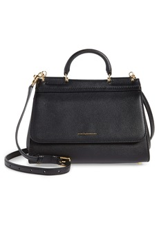 Dolce & Gabbana Dolce&Gabbana Large Miss Sicily Top Handle Leather Satchel