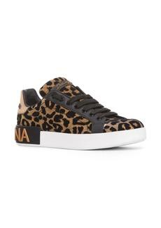 Dolce & Gabbana Dolce&Gabbana Leopard Lace-Up Sneaker (Women)