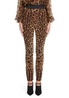 Dolce & Gabbana Dolce&Gabbana Leopard Print Cady Leggings