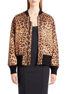 Dolce & Gabbana Dolce&Gabbana Leopard Print Bomber