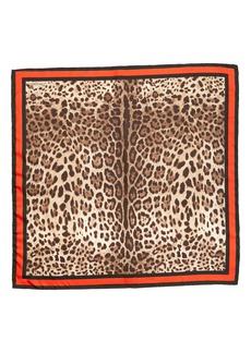 Dolce & Gabbana Dolce&Gabbana Leopard Print Silk Scarf