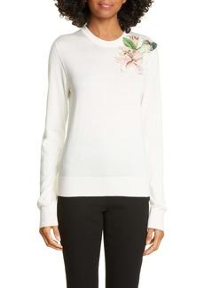 Dolce & Gabbana Dolce&Gabbana Lily Embellished Silk Sweater