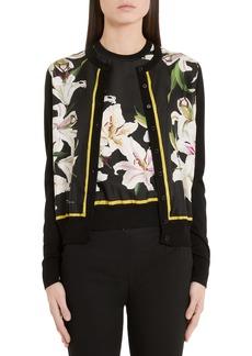 Dolce & Gabbana Dolce&Gabbana Lily Panel Silk Cardigan