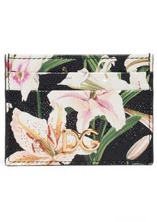 Dolce & Gabbana Dolce&Gabbana Lily Print Leather Card Case