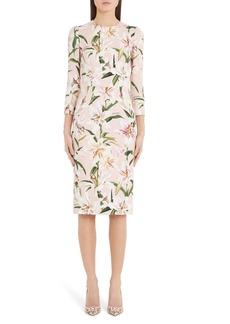 Dolce & Gabbana Dolce&Gabbana Lily Print Sheath Dress