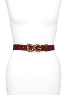 Dolce & Gabbana Dolce&Gabbana Logo Buckle Leather Belt