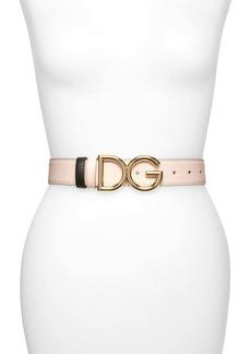 Dolce & Gabbana Dolce&Gabbana Logo Buckle Reversible Leather Belt