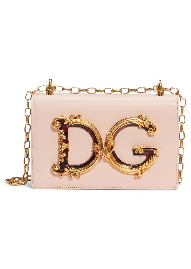 Dolce & Gabbana Dolce&Gabbana Logo Leather Crossbody Bag