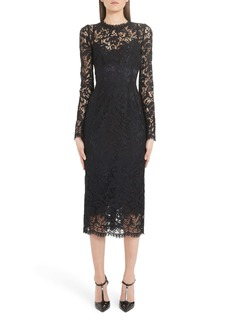 Dolce & Gabbana Dolce&Gabbana Long Sleeve Lace Midi Dress