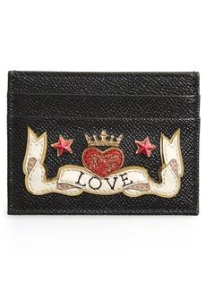 Dolce & Gabbana Dolce&Gabbana Love Patch Leather Card Case