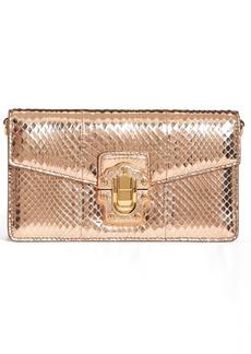 Dolce & Gabbana Dolce&Gabbana Lucia Genuine Snakeskin Crossbody Clutch